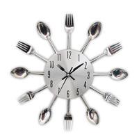 壁掛け時計 キッチンデザイン スプーン フォーク 30㎝ 5種類 おしゃれ インテリア 時計 ディスプレイ 輸入雑貨