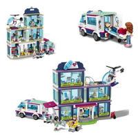 レゴ互換 フレンズ ハートレイクシティの病院 教材 知育 LEGO互換品