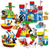 レゴデュプロのまち 互換ブロック パイレーツ 海賊のアジトセット LEGO互換