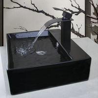 ヨーロッパ風 洗面ボウル 陶器製 洗面ボール 洗面器 洗面台 手洗い鉢 混合栓 スクエア 51.0cm 現代アート