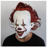 ペニーワイズ マスク it イット 映画 コスプレ ピエロ 大人用 ホラー 高品質 仮装 衣装 映画グッズ レプリカ フリーサイズ