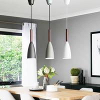 引掛シーリング対応 ペンダントライト シャンデリア LEDランプ 3色 黒 白 グレー 天井照明器具 シーリングライト E27