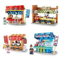 レゴ互換 たこ焼き屋台ラーメン 屋台など4個セット LEGO互換品 クリスマス プレゼント