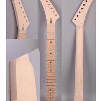 レフティ左用エレキギターネックバナナヘッド ヘビーメタル メイプル指板 24フレット