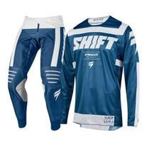 SHIFT モトクロスウェア ジャージ+パンツ 上下セット 2色 黒 青 ツーリング レーシング ウェア バイク