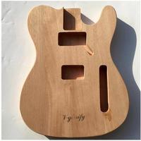 新品 テレキャスター用未塗装ギターボディ マホガニー製ハムバッカー telecaster