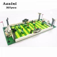 LEGO レゴ 互換 381pcs ワールドカップ サッカースタジアム ミニフィグ付き