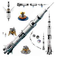 レゴ互換 アイデア NASA アポロ計画 サターンV 2009ピース 直径102㎝ LEGO互換品 おもちゃ 誕生日 プレゼント