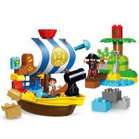 レゴ互換 デュプロのまち パイレーツ 海賊船 63ピース LEGO互換品 おもちゃ 誕生日プレゼント