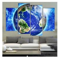 海外輸入 パネルアート -Blue Planet Earth - 壁掛 インテリア