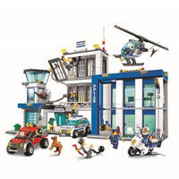 レゴ互換 10424 シティ ポリスステーション 890ピース LEGO互換品