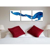 海外輸入 パネルアート -Blue Silk Art- インテリア 絵画 壁掛 タペストリ