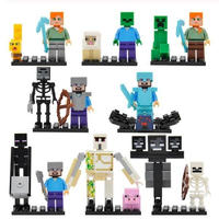 レゴ互換 マインクラフト風 ミニフィグ16体セット マイクラ風 子供おもちゃ LEGO互換