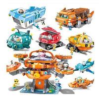 オクトノーツ 日本未発売 レゴ 互換 オクトポッド ガップ 潜水艦 乗り物 メカ ミニフィグ Octonauts Octopod アニメ ディズニー LEGO互換