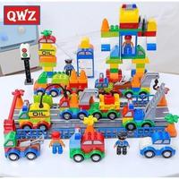 レゴデュプロのまち 互換ブロック 色んな車 乗り物セット 106ピース LEGO互換
