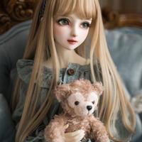BJD女性人形用 ヘアウィッグ 1/3 1/4 1/6 BJD DD SD MSD人形 ロングシャンパンミルクゴールデンヘアウィッグ人形アクセサリー
