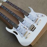 トリプルネックエレキギター 変形ギター 計24弦(6弦+6弦+12弦) ホワイトカラー 初心者~熟練者へ 海外ノーブランド