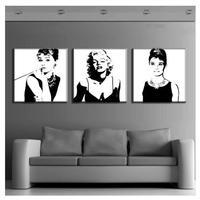 海外輸入 パネルアート -Marilyn Monroe And Audrey Hepburn Canvas Art- インテリア 絵画 壁掛 タペストリ