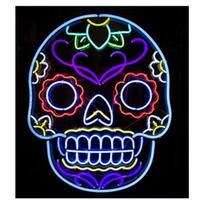 ネオンサイン ネオン管 看板 ライト メキシコ シュガースカル ドクロ ガイコツ 人気 おしゃれ インテリア ディスプレイ 輸入雑貨