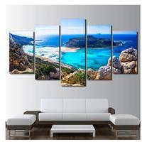壁掛けアート 青い海 ビーチ 5ピース 海外輸入 パネルアート インテリア 壁掛 タペストリ キャンバスアート