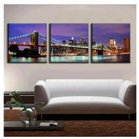 海外輸入 パネルアート -The Brooklyn Bridge Canvas Art- 2色 インテリア 絵画 壁掛 タペストリ
