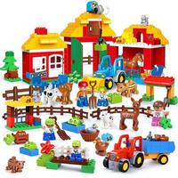レゴデュプロのまち 互換ブロック もりの動物と大きなぼくじょうセット LEGO互換