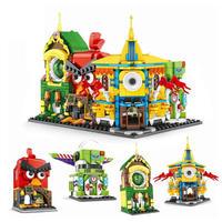 レゴ互換 ミニモジュール式ディスショップ など4個セット LEGO互換品 ブロック おもちゃ