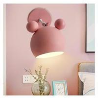 北欧 マカロン 壁ランプ 階段 壁灯 3色 ピンク グリーン ホワイト E27 照明器具 子供部屋 リビング 寝室