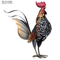 鉄 オンドリ 金属彫刻 ホームアート デコレーション 鶏 置物 Tooarts スチールトリ