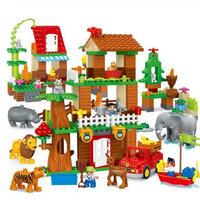 レゴデュプロのまち 互換ブロック 自然のどうぶつえんセット LEGO互換