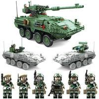 レゴ互換 3in1 M1128 ストライカー MGS 装甲車 ミニフィグ6体付き おもちゃ 1:21 ブロック  lego互換