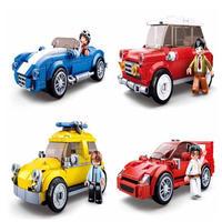 レゴ互換 テクニック レーシング クラシックカー 4個セット ミニフィグ付き LEGO互換品