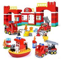レゴデュプロのまち 互換ブロック ファイヤーステーション 消防署セット LEGO互換