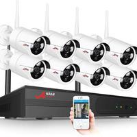 ワイヤレスCCTVシステム カメラ8台セット 1080p 8ch NVRキット HD カメラ wifiホームセキュリティ ナイトビジョン ビデオ監視キット カラー2色