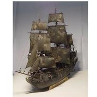 帆船 模型 キット 1/96 海賊船 ブラック 木製 3D レザーカット