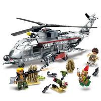レゴ互換 swat 警察 スワットチーム ヘリコプター 兵士 ミニフィグ 340ピース 軍事 陸軍ヘリ ミリタリー ブロック LEGO互換品