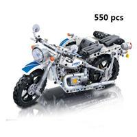レゴ互換 テクニック 3輪 サイドカー付き バイク 750cc 550ピース LEGO互換品