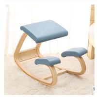 ホームオフィス家具 膝たち姿勢 サポート 人間工学に基づいたデザイン設計 PC用 バランスチェア ロッキング 木製 3色から選択