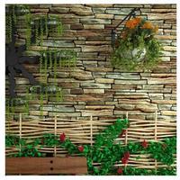 3D 壁紙 石レンガ調 ヴィンテージ 53×1000㎝ 壁紙ロール PVC 防水 カビ対策 おしゃれクロス インテリア 装飾 寝室 リビング