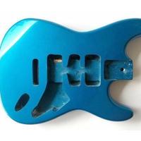 ストラト用 塗装済み ギターボディ ブルー マホガニー製 ギター自作用素材 エレキギター本体