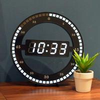 壁掛け LED デジタル 時計 DIY 置き時計 お洒落 面白 輸入雑貨 インテリア 高性能