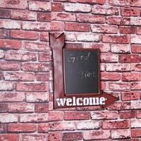 メタルサイン ネオン 看板 WELCOMEボード 黒板 店舗 サインボード LEDライト 人気 おしゃれ インテリア ディスプレイ 輸入雑貨