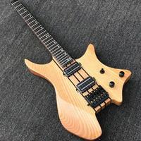 エレキギター ヘッドレス 木目 カスタマイズギター ノーブランド 34インチ バンド