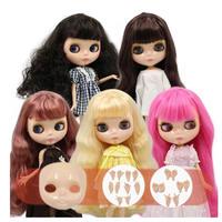 アイシードール 5種類 ICY DOLL 高品質 本体 可動ボディ セット 付け替えフェイスパーツ + ハンドパーツ 1/6ドール カスタムブライス ブライスドール BJD人形 おもちゃ