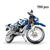 レゴ互換 テクニック YAMAHA WR250R モトクロス オフロードバイク 799ピース LEGO互換品