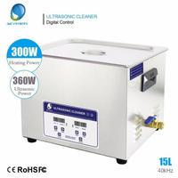 超音波洗浄器 15L デジタル ヒーター/タイマー付き 業務用クリーナー洗浄機
