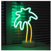 LED ネオンサイン 9デザイン ヤシの木 ユニコーン フラミンゴ ハート 星 月 クリスマスツリー パイナップル サボテン 天使 照明器具