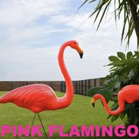 【ガーデンオブジェ】ピンクフラミンゴ 2ペアセット