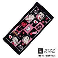 【ベティブープ】シャーリング フェイスタオル Sサイズ 限定 (ブラック)