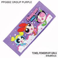 【パワーパフガール】フェイスタオル (GROUP PURPLE)